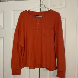 Out From Under Jimmy Oversized Thermal Henley Top
